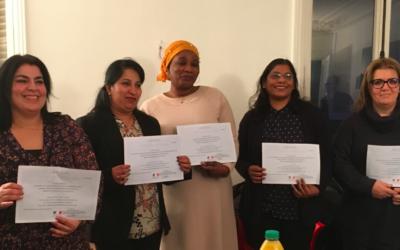 Les médiatrices ayant validé la VAE ont reçu leurs diplômes!
