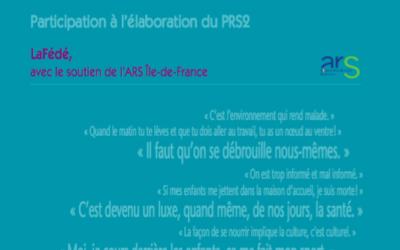 «Paroles d'habitantes et d'habitants sur la santé- Participation à l'élaboration du PRS2»